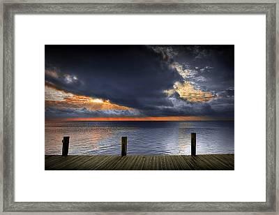 Sunrise On Key Islamorada In The Florida Keys Framed Print by Randall Nyhof