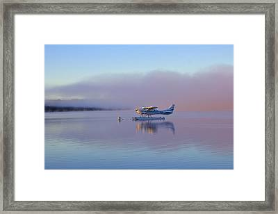 Sunrise On Lake Te Anu Framed Print by Venetia Featherstone-Witty
