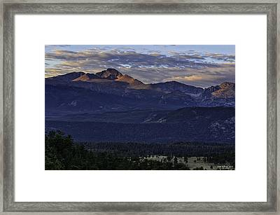 Sunrise On Longs Framed Print by Tom Wilbert
