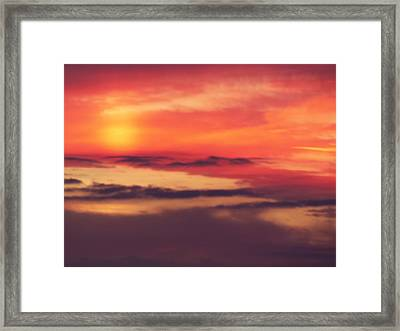 Sunrise On Mars Framed Print by Condor