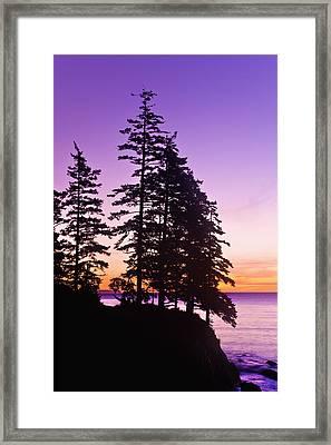 Sunrise On Monashka Bay At Ft Framed Print