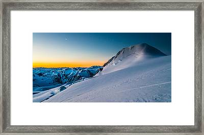 Sunrise On Mount Garibaldi Framed Print by Ian Stotesbury