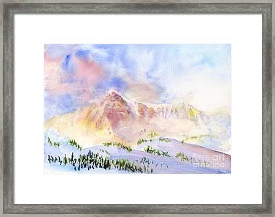 Sunrise On Mount Ogden Framed Print