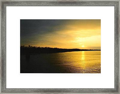Framed Print featuring the photograph Sunrise On Ole Man River by Michael Hoard