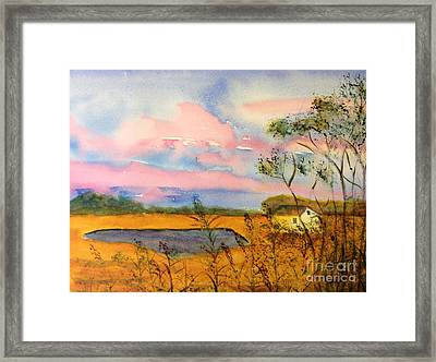 Sunrise On Patcong Creek Framed Print