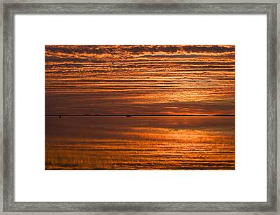 Sunrise On Ramrod Key Framed Print by Sandy Molinaro