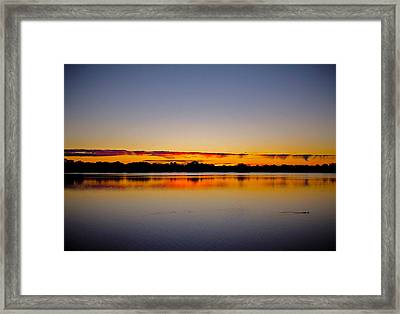 Sunrise On Riviere Des Mille-iles Framed Print by Juergen Weiss