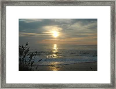 Sunrise On Rodanthe's Beach Framed Print by Angela Prandini