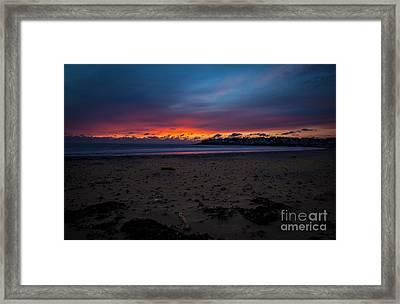 Sunrise On Shortsands  Framed Print by Sue OConnor