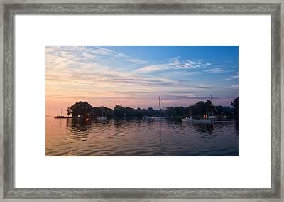 Sunrise On St. Michaels Md Harbor Framed Print
