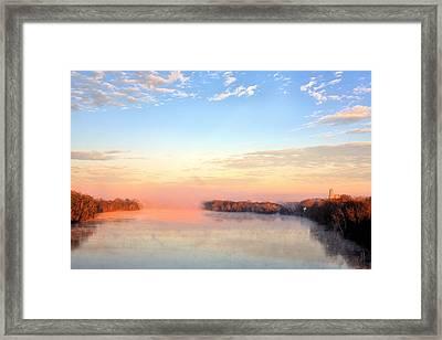 Sunrise On The Alabama River Framed Print