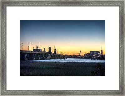 Sunrise On The Ashley River Framed Print