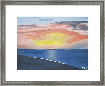 Sunrise On The Atlantic Framed Print by Edna Fenske