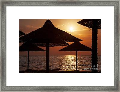 Sunrise On The Beach Framed Print
