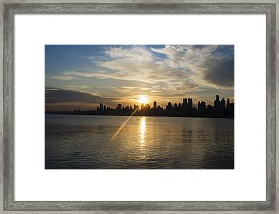 Sunrise On The Big Apple Framed Print by Bill Cannon