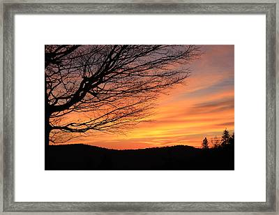 Framed Print featuring the photograph Sunrise On The Blue Ridge Parkway by Mountains to the Sea Photo