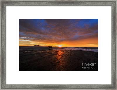 Sunrise On The Bonneville Salt Flats Framed Print by Holly Martin