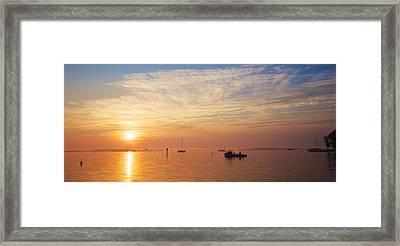 Sunrise On The Chesapeake Bay Framed Print