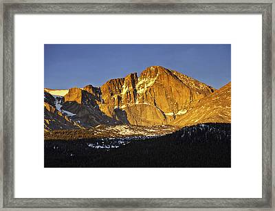 Sunrise On The Diamond Framed Print by Tom Wilbert