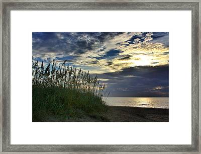 Sunrise On The Dunes Framed Print