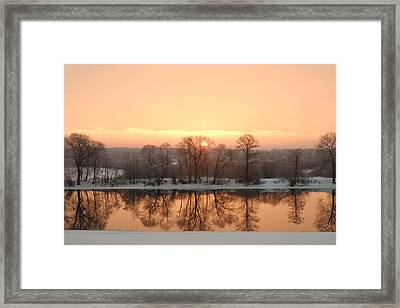 Sunrise On The Ema River Framed Print