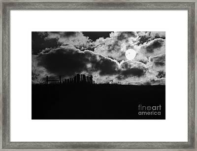 Sunrise On The Farm Bw Framed Print