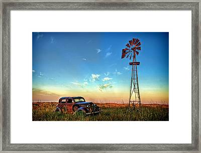 Sunrise On The Farm Framed Print