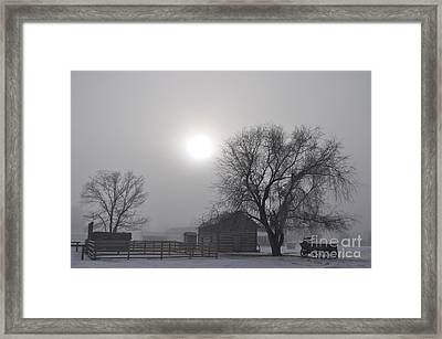 Sunrise On The Fort Framed Print by Stephan Ferry