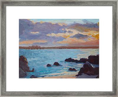 Sunrise On The Grotto Framed Print by Dianne Panarelli Miller