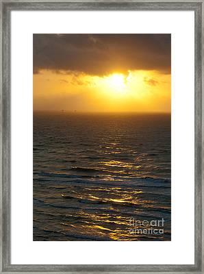 Sunrise On The Gulf Framed Print by Barbara Shallue