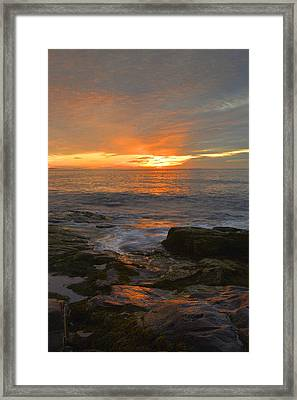 Sunrise On The Gulf Of Maine Framed Print by Stephen  Vecchiotti