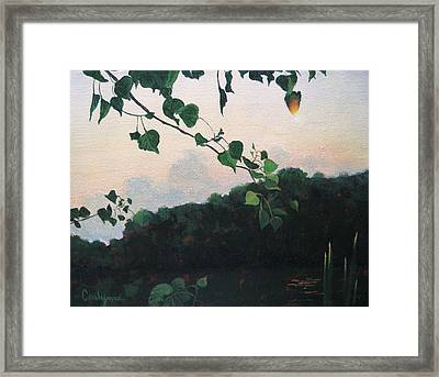 Sunrise On The Lake Framed Print by Carlynne Hershberger