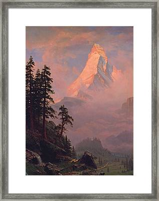 Sunrise On The Matterhorn Framed Print