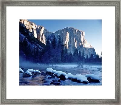 Sunrise On El Capitan Yosemite National Park Framed Print