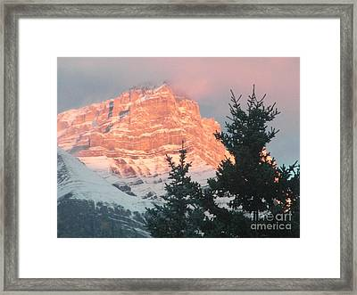 Framed Print featuring the photograph Sunrise On The Mountain by Ann E Robson