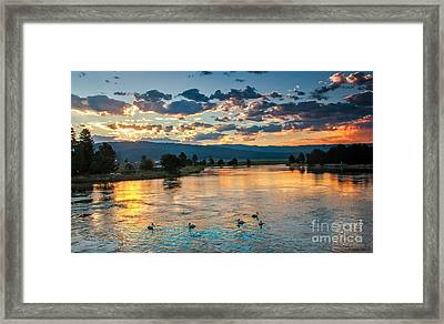 Sunrise On The North Payette River Framed Print by Robert Bales