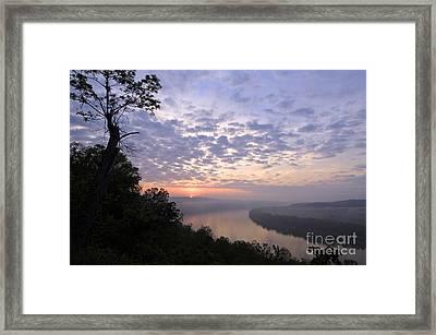 Sunrise On The Ohio - D002783a Framed Print