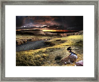 Sunrise On The Pawnee Grasslands Framed Print by Ric Soulen