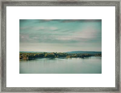 Sunrise On The River - Water Scene Framed Print by Jai Johnson