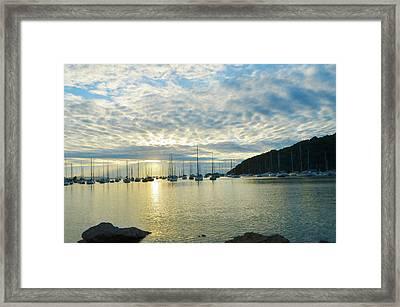 Sunrise On The Sea Framed Print