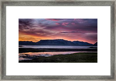 Sunrise On The Snaefellsnes Peninsula In Iceland Framed Print