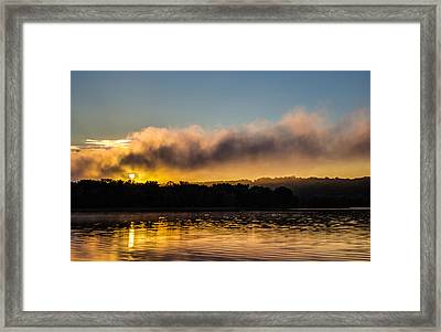 Sunrise On The St. Croix Framed Print