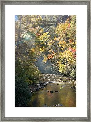Framed Print featuring the photograph Sunrise On The Telico River by Robert Camp