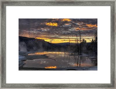 Sunrise On The Terrace Framed Print