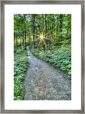 Sunrise On The Trail Framed Print by Twenty Two North Photography