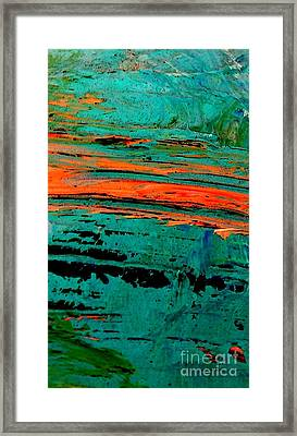 Framed Print featuring the painting Sunrise On The Water by Jacqueline McReynolds