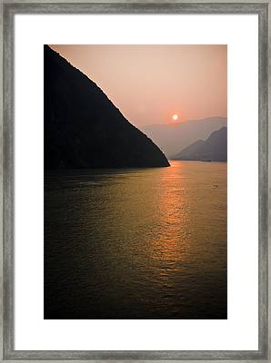 Sunrise On The Yangzi Framed Print