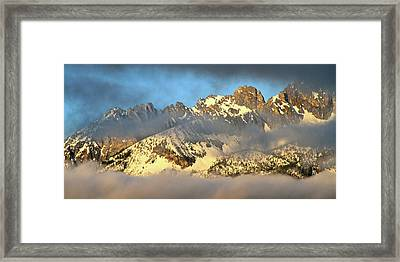 Sunrise On Thompson Peak Framed Print
