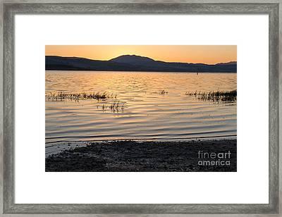 Sunrise On Tomales Bay - 262 Framed Print by Stephen Parker