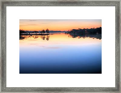 Sunrise On Toms Bayou Valparaiso Framed Print by JC Findley